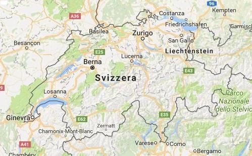Piantina della Svizzera