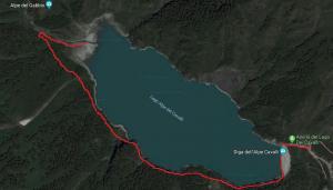 Piantina lago dei Cavalli