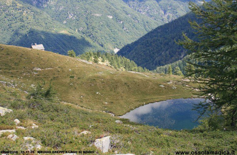 Dalla piana di Vigezzo ai laghetti di Moino e al rifugio Greppi (agosto 2008)